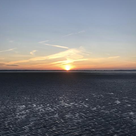 coucher soleil baie